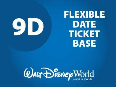 Ingresso Disney Park Hopper Flexível - 9 Dias